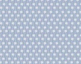 END OF BOLT, Mini-Flowers, blue, Meadow Wildlife, 30190403, col 04, Camelot Fabrics, cotton quilt, cotton designer