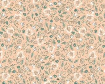 SALE, Flowers, beige, 21180304, col 04, Beachside Pretty, Oceanic Garden, Camelot Fabrics, cotton, cotton quilt, (Reg 3.76-21.91)