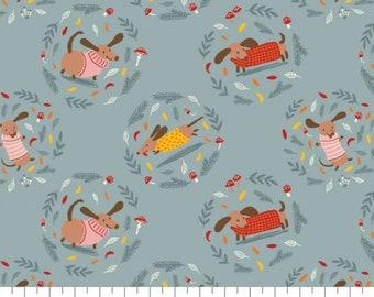 Fabric Dogs, 100% coton, #82200102, SLATE BLUE, Sweater Weather de Camelot Fabrics