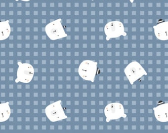 Bear, blue, 21185504, col 01, Big Bear Cuddles, Camelot Fabrics, 100% Cotton