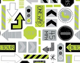 Traffic signs, 27190101, col 03, On the Move, Camelot Fabrics, cotton, cotton quilt, cotton designer