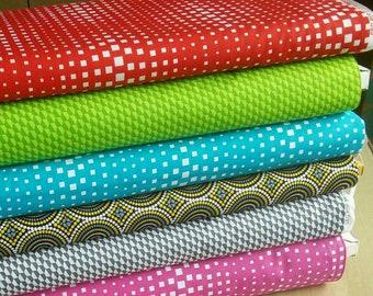 SALE, Bundle, 6 prints, Geo Pop, Benartex, Bundle, 1 of each print, quilt cotton, (Reg 22.55-116.94)