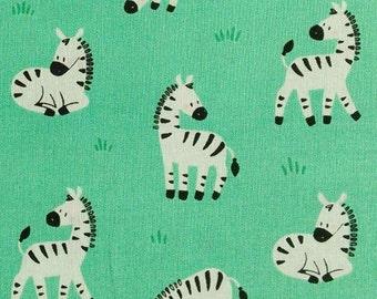 SALE, Zebra, seafoam, 21180901, col 03, Peek-A-Boo, Camelot Fabrics, 100% Cotton, (Reg 3.76-21.91)