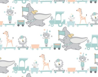 Fabric DUMBO of Disney, white, #85160303 - My Little Circus of Camelot Fabrics