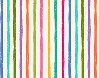 Stripe, rainbow, Katie's Cat, 2347 Q, Makower, cotton, cotton quilt, cotton designer
