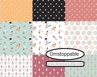 Bundle 9, Omstoppable Collection, Camelot Fabrics, 100% Cotton, quilt cotton, (Reg 33.84-175.91)