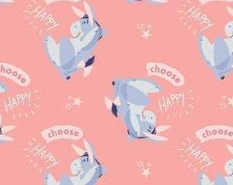Winnie The Pooh, Be Happy, 85430521, col 02, Camelot Fabrics, cotton, cotton quilt, cotton designer, (Reg 4.61-26.99)