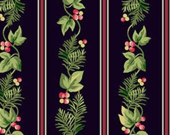 SALE, Fabric, Cotton, Stripes, black, Winter Rose, 9421, Andover, (Reg 3.76-21.91)