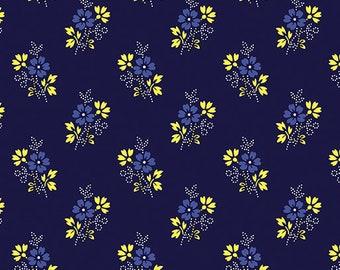 Disty Navy, Somerset, 6794, col 55, Benartex, cotton, cotton quilt, cotton designer
