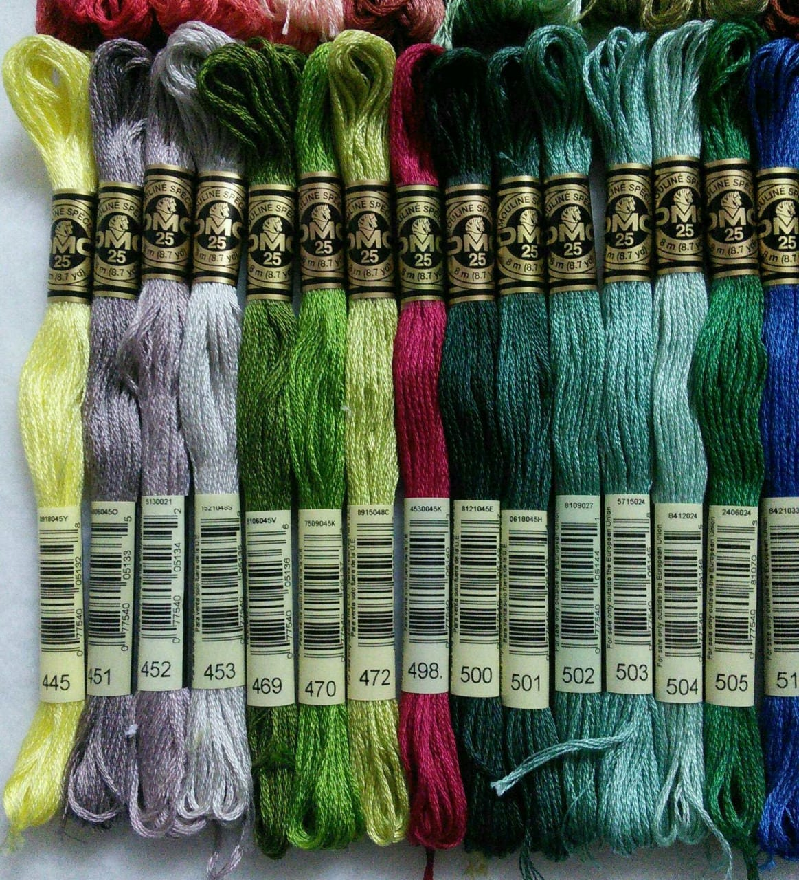 DMC, 347-554, Embroidery, thread, DMC, Mouliné 25, art 117 No. 25, 8 ...