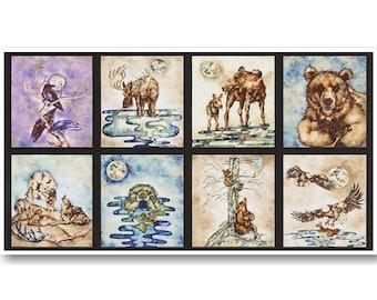 "Forest animals, Panel, 24""X44"", Robert Kaufman, 100% Cotton, (Reg 13.15)"