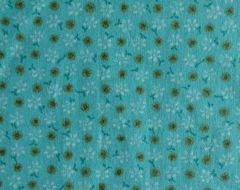 Fabric Aqua Floral, Dots Gold, 80526139, Floral Dots, cotton, cotton quilt, cotton designer