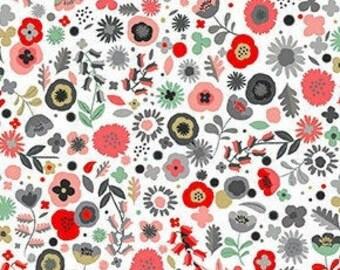 Flowers, Pamper, 2313W, Makower, cotton, cotton quilt, cotton designer