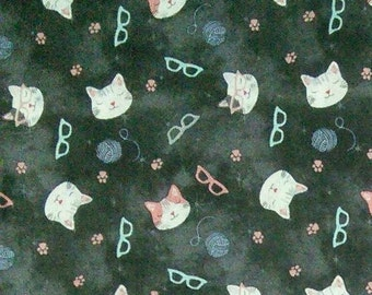 Cat, glasses, Joann, 100% Cotton