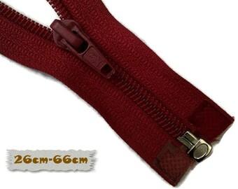 SEPARABLE, 26cm, 28cm, 58cm, 64cm, 66cm, Wine Red, Zipper, 7E Slider, Clothing, ZS01, (Reg 3.60-7.60)