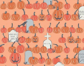 Pumpkin, Halloween, ORANGE, #10576, fabric, cotton, quilt cotton- Spooky Hallow de Riley Blake