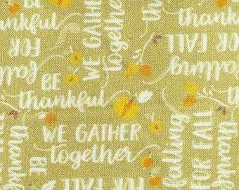 SALE, Ode to Fall, white, sage, 66180206, col 03, Autumn Impressions, Camelot Fabrics, cotton, cotton quilt, (Reg 3.76-21.91)