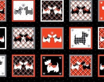 "Panel, 24""X44"", Dotty for Scottie, Kanvas, 7885, Benartex, 100% Cotton, (Reg 13.15)"