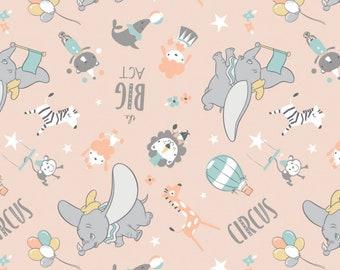 Fabric DUMBO of Disney, peach, #85160302 - My Little Circus of Camelot Fabrics