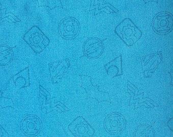 Symbol, blue, Justice League, DC Comics, 23421203, Camelot Fabrics, cotton, cotton quilt, cotton designer