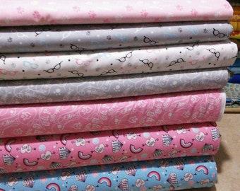 SALE, Bundle of 7 prints, Cat Rules of Camelot Fabrics, Quilt Cotton, 1 of each print, (Reg 26.53-136.43)
