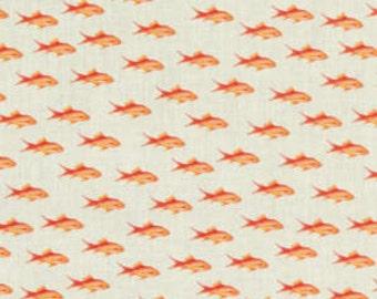 SALE, Fish, Flot 3, Stof France, 100% Cotton, quilt cotton, designer cotton