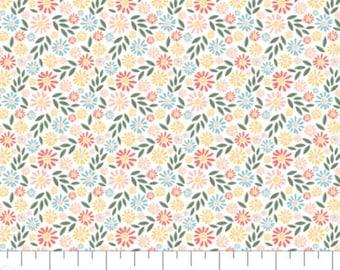 Flower, Wish for Rain, 89191003, col 01, Camelot Fabrics, 100% Cotton