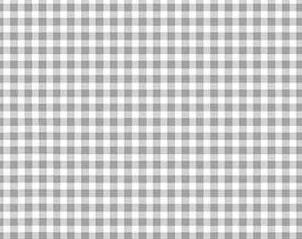"Ginghan, Gray, 1/16"", Forest, 920, Makower, cotton, cotton quilt, cotton designer, (Reg 3.76-21.91)"