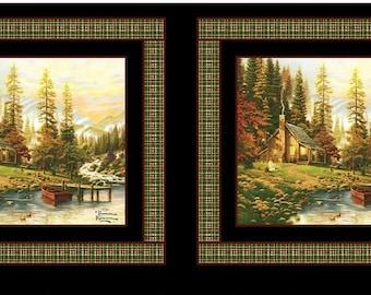 Thomas Kinkade, A peaceful Retreat, Benartex, 05459, col 99, cotton, cotton quilt, cotton designer