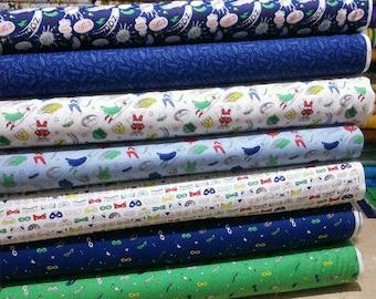 SALE, Bundle of 7 prints, Half-Pint Heroes, Camelot Fabrics, Bundle, 1 of each print, (Reg 26.53-136.43)