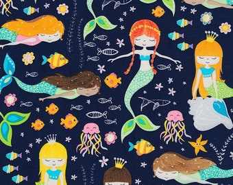 Sirène, 7436, Timeless Treasures, Timeless Treasures, cotton quilt, cotton designer