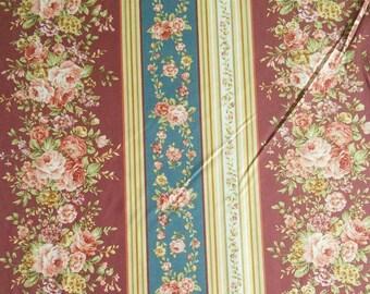 Fabric, Border Stripe Burgundy, Zelie Ann, #06718, 87, Benartex, 100% cotton, cotton quilt, cotton designer