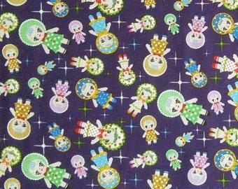 SALE, Windham Fabrics, Doll, violet, 100% cotton, cotton quilt, cotton designer