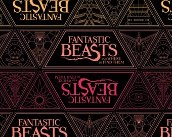 Harry Potter, Wizarding World, Fantastic Beast, 23900105, col 01, Camelot Fabrics, cotton, cotton quilt, cotton designer