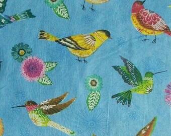 Fabric Birds, Floral Flight, Wilmington Fabrics, 100% cotton, cotton quilt, cotton designer