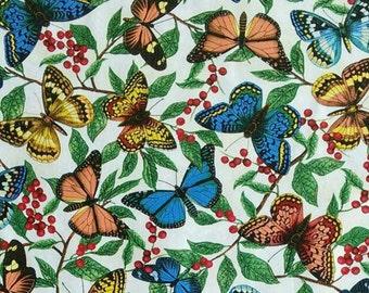 Butterfly, ivory background, Garden Journal, 4568, Dear Stella, cotton, cotton quilt, cotton designer