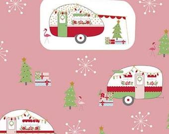 Christmas Adventure, Riley Blake Designs, Christmas fabric 100% cotton, #10730 PEONY