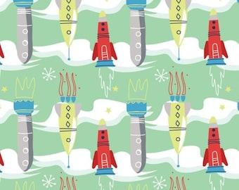 Rocket, Out of this world, 91180202, Camelot Fabrics, cotton, cotton quilt, cotton designer