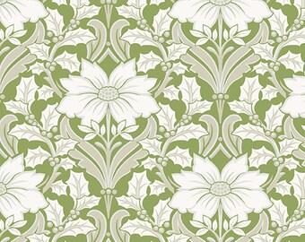 SALE, Fabric, Cotton, Poinsettia, Winter Rose, 9419, Andover, (Reg 3.76-21.91)