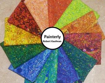 Bundle 12 designs, Painterly Petals, Robert Kaufman, cotton, cotton quilt, cotton designer