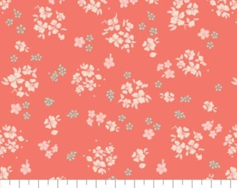 Fabric 100% cotton, Aberdeenshire, 7140804, col 04, CORAL - The Notthingham of Laura Ashley, Camelot fabrics