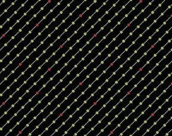 Fabric, Cotton, Black, green, red, Winter Rose, 9424, Andover