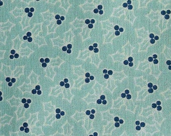 SALE, Mistletoe, blue, Cozy Christmas, 7973, Riley Blake, fabric, cotton, quilt cotton, (Reg 3.76-21.91)