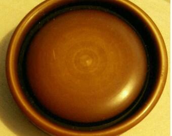 1 Button 28mm, Brown, bakelite, Decorative Button, Solid Button, Coat Button