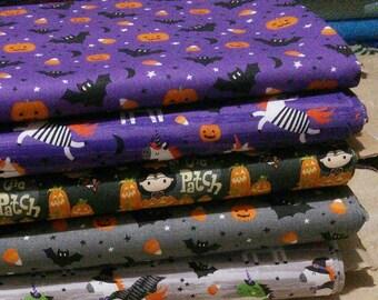 Bundle, 5 prints, Unicorn Season of Camelot Fabrics, Quilt cotton