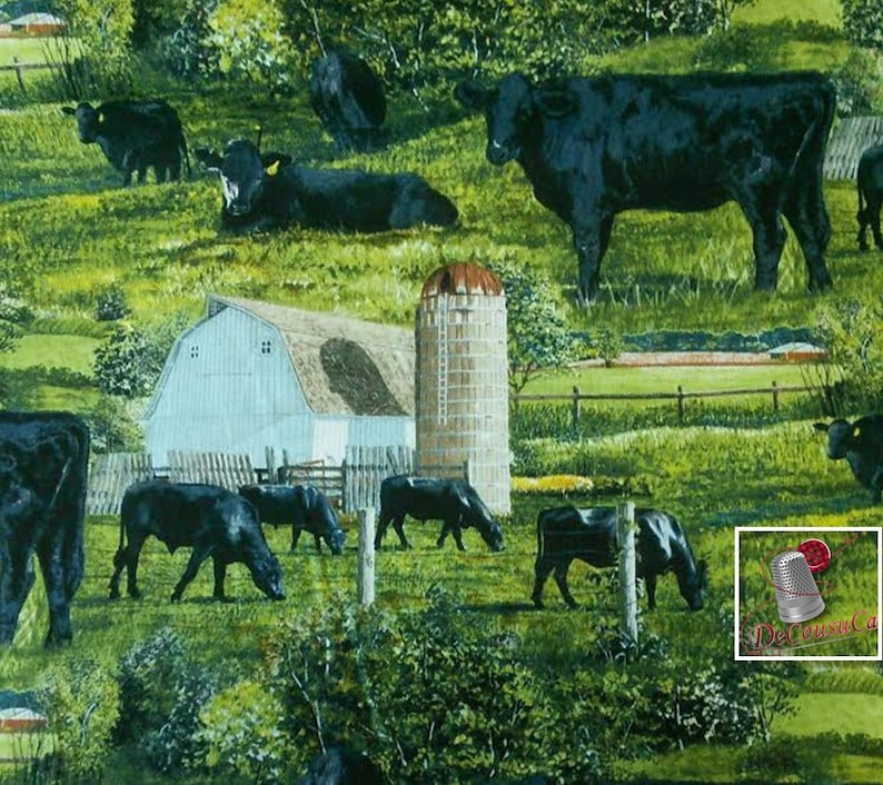 CP62417 Wild Wings by Rollie Brandt 100/% Cotton, Spring Creative Black Angus Multiple quantity cut in one piece Reg 2.99-17.99