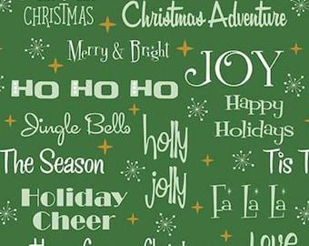 Christmas Adventure, Riley Blake Designs, Christmas fabric 100% cotton, #10731 GREEN