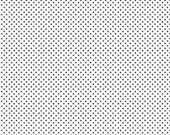 Spot, WHITE/Black, 830, Makower, cotton, cotton quilt, cotton designer