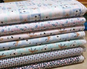 Bundle, 7 prints, Floral Menagerie, Camelot Fabrics, Bundle, 1 of each print, quilt cotton