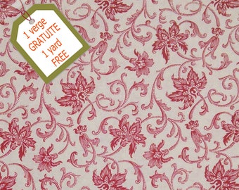 Fabric Floral, 100% cotton, cotton quilt, cotton designer. Comes WITH tracking code